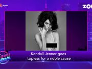 Kendall Jenner goes topless for noble cause