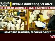 Kerala: Congress-led opposition blocks Guv Arif Khan inside assembly, MLAs display anti-CAA placards