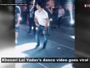 Khesari Lal Yadav dances on Bhojpuri song 'Roj ke ihe ba halchal ke darama', video goes viral