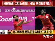 Kidambi Srikanth becomes World No. 1 in men's badminton rankings
