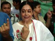 Kirron Kher casts her vote