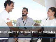 Kohli, Anushka meet Roger Federer at Australian Open