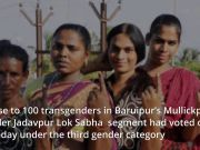 Kolkata: Transgender community turns up to vote as the third-gender category in LS polls