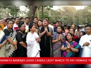 Kolkata: WB CM Mamata Banerjee leads candle light march to pay homage to Pulwama martyrs