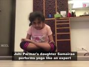 'Kumkum' actress Juhi Parmar's 6-year-old daughter is a yoga maestro