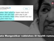 Lata Mangeshkar quashes rumours about ill health, I am fine, she tweets