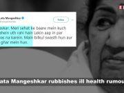 Lata Mangeshkar quashes rumours about ill health, I am fine, she tweets