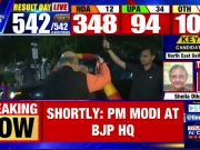 Lok Sabha results 2019: PM Modi, Amit Shah reach BJP headquarters