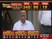 Lok Sabha results: NCP chief Sharad Pawar speaks to reporters on poll results