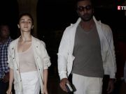Lovebirds Alia Bhatt and Ranbir Kapoor match their looks in pristine white