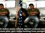 Lucknow: Youth makes sexist remark against female metro pilot, gets verbal bashing from youngster