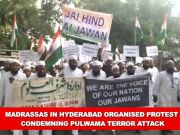 Madrassas in Hyderabad organise protest condemning Pulwama terror attack
