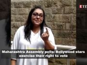Maharashtra Assembly polls 2019: Dia Mirza, Madhuri Dixit, Ravi Kishan, Lara Dutta among others cast their vote