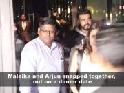 Malaika Arora and Arjun Kapoor spend some quality time on a dinner date