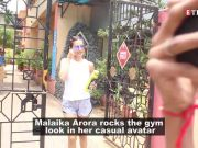 Malaika Arora looks effortlessly stylish in her trendy gym wear