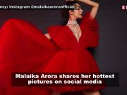 Malaika Arora makes heads turn in red tulle gown