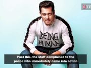 Man arrested for threatening Salman Khan's staff to disclose his contact number