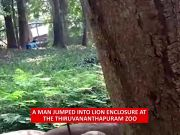 Man jumps into lion's enclosure at Thiruvananthapuram zoo