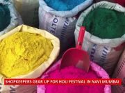 Markets decked up for Holi in Navi Mumbai; pichkaris and gulal galore