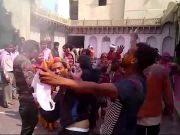 Mathura: Locals celebrate Lathmar Holi in Nandgaon