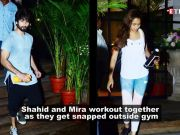 Mira Rajput accompanies hubby Shahid Kapoor for a workout session yet again