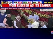 Modi seeks blessings from LK Advani, Murli Manohar Joshi