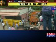 Mortal remains of late Arun Jaitley reach BJP headquarters