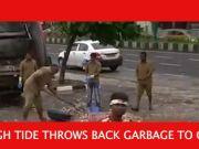 Mumbai: High tides bring 12 tonnes of garbage to Marine Drive