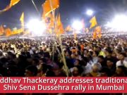 Mumbai: Uddhav Thackeray addresses traditional Shiv Sena Dussehra rally at Shivaji Park