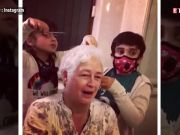 Nafisa Ali shaves off her head with the help of her grandchildren, shares her bald look
