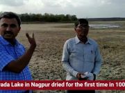 Nagpur: 100-year-old submerged well visible as Gorewada Lake dried up for the first time
