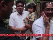Nanny gets angry at paparazzi while Taimur shouts 'goodbye'