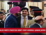 Navjot Singh Sidhu meets Pak Army chief Qamar Javed Bajwa at Imran Khan's oath ceremony