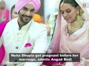 Neha Dhupia got pregnant before her marriage, admits Angad Bedi