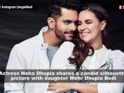 Neha Dhupia shares an adorable picture with daughter as she turns 4 months old