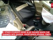 Noida: Class XII student dies, 2 classmates injured after speeding car hits divider