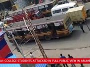 On cam: 2 college students attacked in Chennai's Arumbakkam