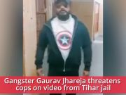 On cam: Gangster threatens cop from inside Tihar jail