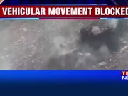 On cam: Landslide near Jammu-Srinagar national highway