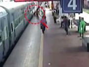 On cam: RPF constable saves woman from coming under moving train