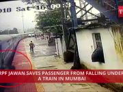 On cam: RPF jawan saves passenger from falling under a train in Mumbai