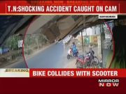 On cam: Speeding bike crashes into scooter in Kanyakumari