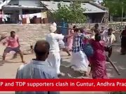 On cam: YSRCP, TDP supporters clash in Andhra Pradesh's Guntur