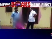 On camera: TRS leader kicks woman in chest over land dispute