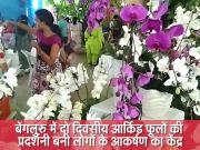 बेंगलुरु में दो दिवसीय आर्किड फूलों की प्रदर्शनी बनी लोगों के आकर्षण का केंद्र