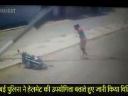 मुंबई पुलिस ने हेलमेट की उपयोगिता बताते हुए जारी किया विडियो