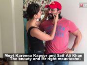 PDA alert! Kareena Kapoor Khan can't get enough of pulling Saif Ali Khan's moustache