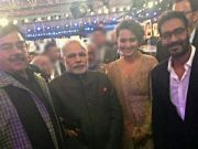 PM Modi promotes 'Action Jackson' with Ajay & Sonakshi