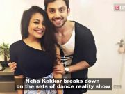 Post break-up, Neha Kakkar gets teary-eyed on the sets of a dance show