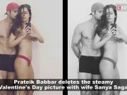 Prateik Babbar deletes the bold photograph with wife Sanya Sagar
